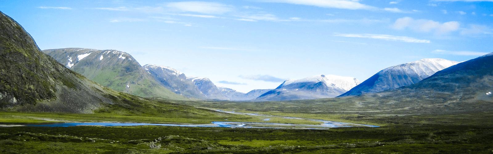 paysage trek suède