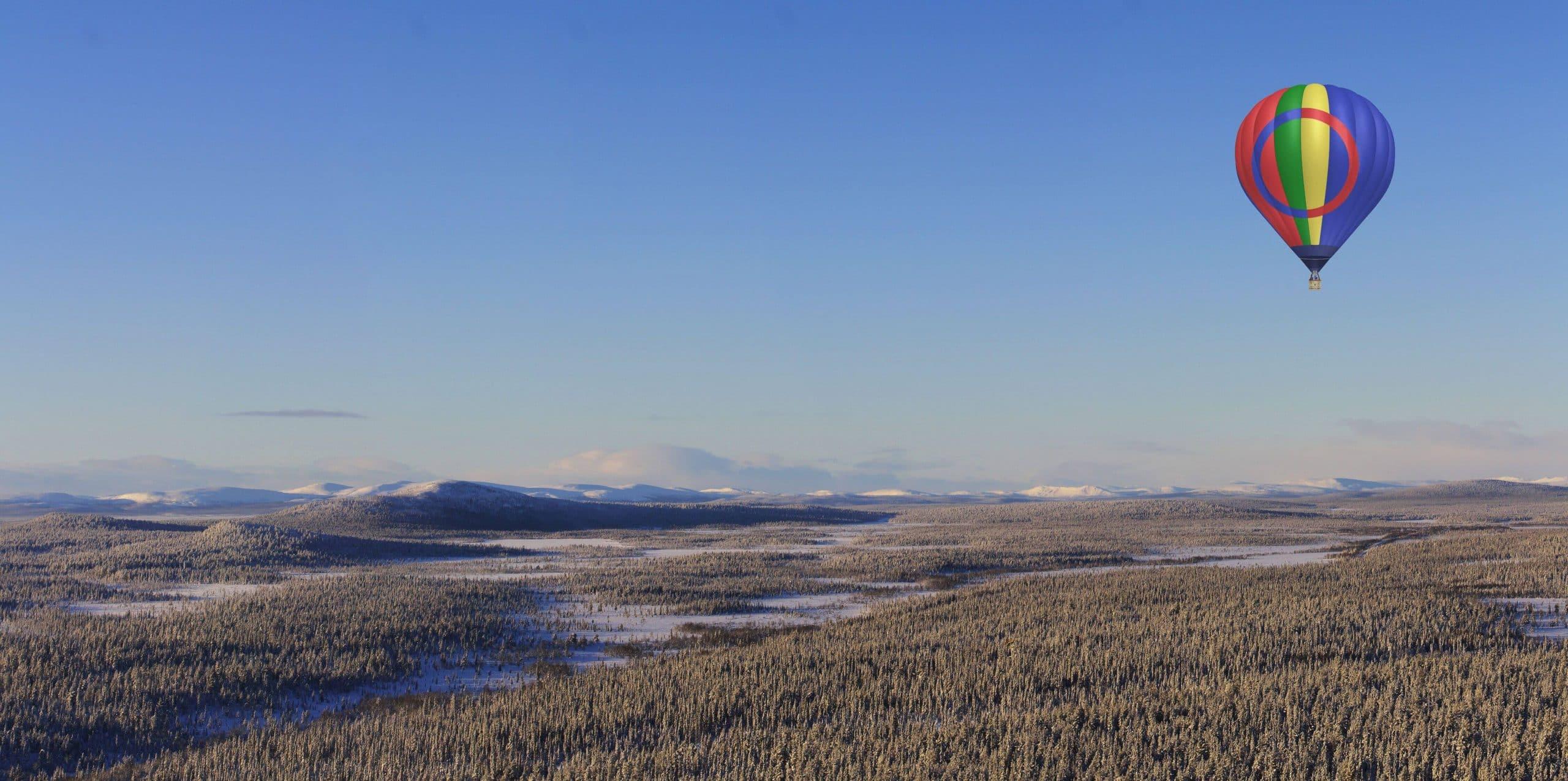 Vol en montgolfière Laponie Suédoise