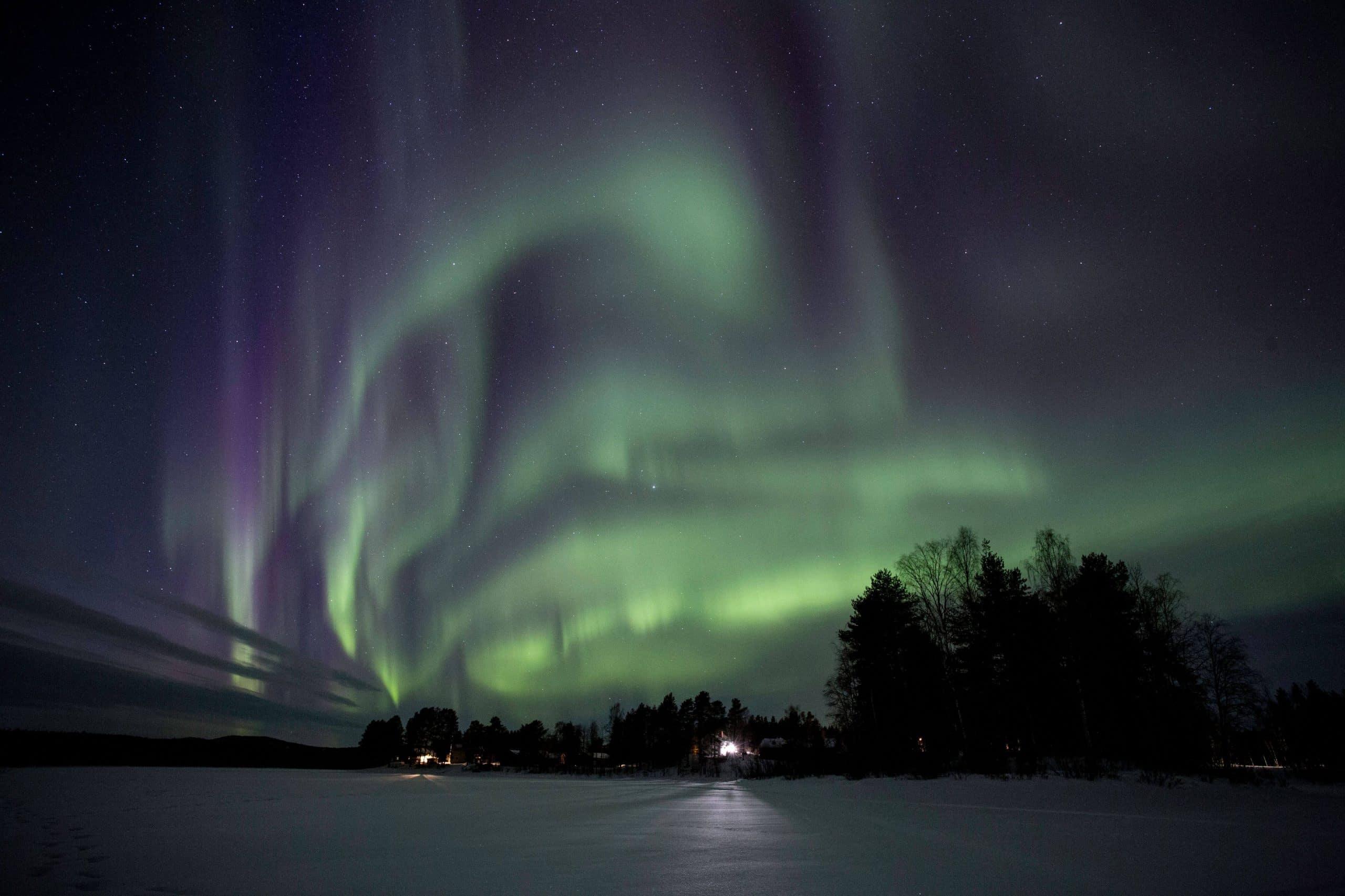 aurores boréales Laponie Suédoise