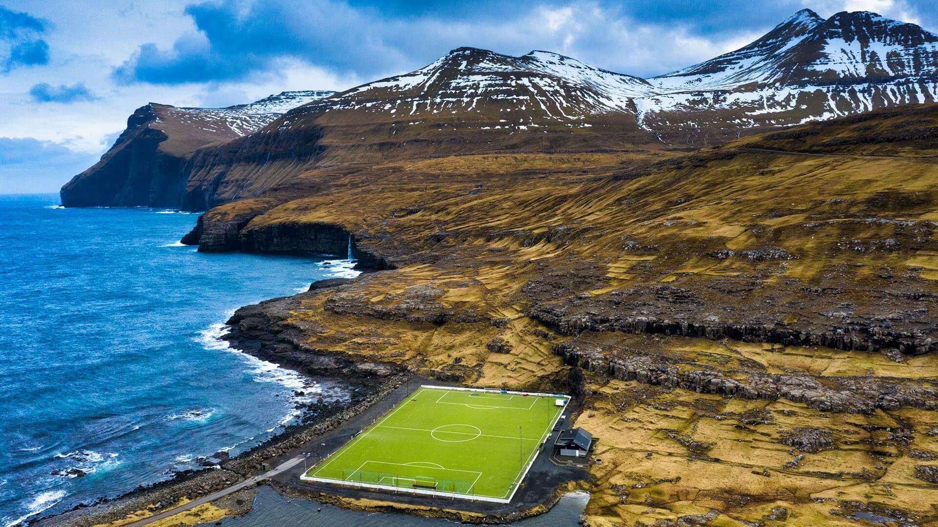 terrains de football les plus insolites